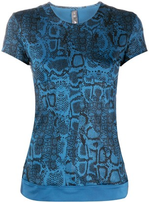 adidas by Stella McCartney snakeskin-print T-shirt