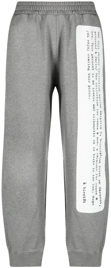 MM6 MAISON MARGIELA Wide-Leg Splice Logo Print Track Pants