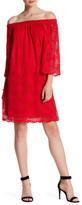Marina Lace Off-The-Shoulder Shift Dress