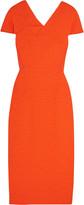 Roland Mouret Dunmore crepe-paneled matelassé dress