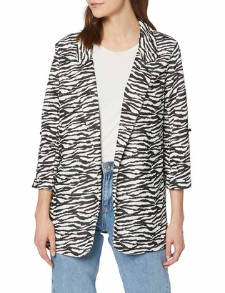 New Look Women's Zebra Scuba Jacket