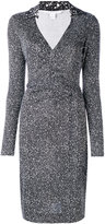Diane von Furstenberg speckled wrap dress - women - Silk - 4
