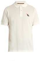 Paul Smith Dinosaur-embroidered cotton polo shirt