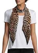 Rockins Leopard's Teeth Skinny Silk Scarf