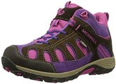 Merrell Chameleon Mid WTPF Hiking Boot (Little Kid/Little Kid/),Brown/Pink,3 W US Little Kid