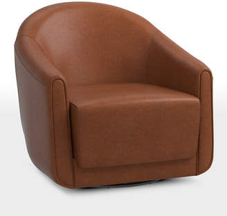 Astonishing Leather Swivel Chair Shopstyle Pabps2019 Chair Design Images Pabps2019Com