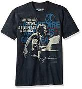 Liquid Blue Unisex-Adults John Lennon People for Peace Tie Dye Short Sleeve T-Shirt