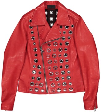RtA Red Leather Jacket for Women