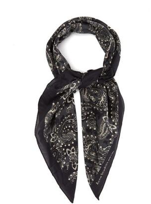 Acne Studios Violett Paisley-print Cotton-blend Poplin Scarf - Mens - Black