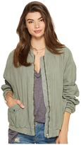 Free People Ruched Linen Bomber Women's Coat