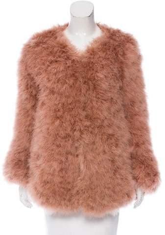 Giorgio Armani Oversize Feather Jacket w/ Tags