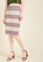 The Type for Stripes Pencil Skirt in Lilac in M