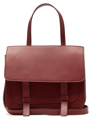 Mansur Gavriel Leather Satchel Shoulder Bag - Burgundy