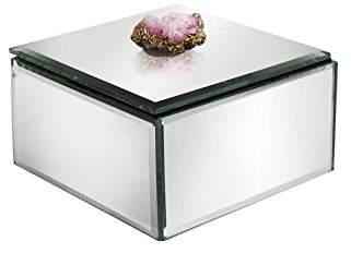 American Atelier 1280260 Agate Clear Stone Mirror Jewelry Box