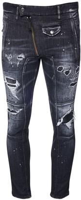 DSQUARED2 14cm Twinky Biker Stretch Jeans