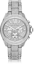 Michael Kors Wren Stainless Steel Pave Chronograph Watch