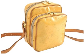 Louis Vuitton WOOSTER Yellow Patent leather Handbags
