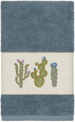 Linum Towels Teal Mila Embellished Hand Towel