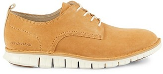 Cole Haan Zerogrand Stitch-Out Suede Oxfords