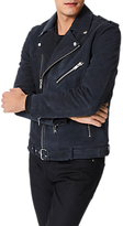 Selected Nico Suede Leather Jacket, Vulcan