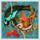 Pig, Chicken & Cow Eden Bird In Blue