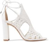 Alexandre Birman Woven Leather Sandals - White