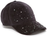 Juicy Couture Crystal Encrusted Velour Baseball Hat