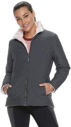 Gaiam Women's Reversible Quilted & Faux-Fur Jacket