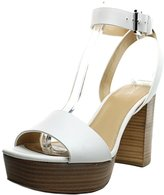 MICHAEL Michael Kors Leonora Ankle Strap Women US 10 White