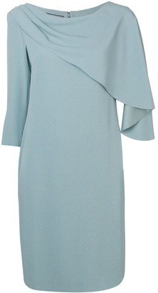 Alberta Ferretti Cape Front Dress