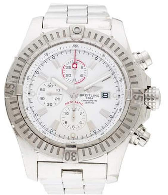 Breitling Super Avenger Watch white Super Avenger Watch