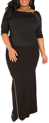 Justice POETIC Poetic Curvy French Terry Knit Maxi Skirt