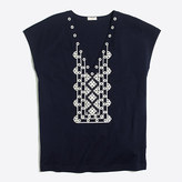 J.Crew Factory Embroidered V-neck T-shirt