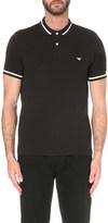 Emporio Armani Tipped-trim cotton-piqué polo shirt