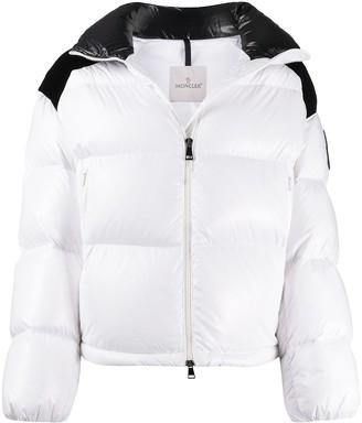 Moncler Logo Print Puffer Jacket