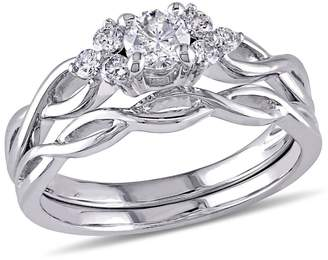 Concerto 0.5CT Diamond 14K White Gold Infinity Bridal Set
