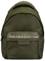 Stella McCartney khaki falabella go mini backpack