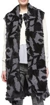 Thakoon Long Scarf-Tie Vest, Charcoal/Black