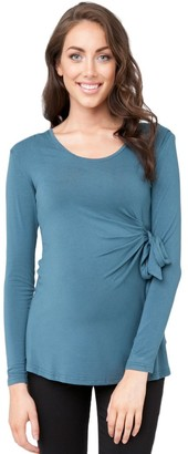 Ripe Maternity Women's Maternity Long Sleeve Side Tie Top