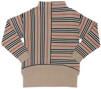 Burberry Stripe Print Wool & Cashmere Knit