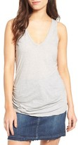James Perse Women's Skinny Ruched Cotton Tank