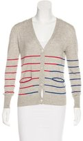 Boy By Band Of Outsiders Silk-Blend Striped Cardigan