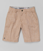 Micros Khaki Dr. Stoobing Walk Shorts - Boys