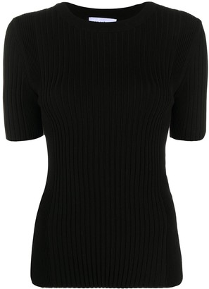 Paco Rabanne ribbed fitted T-shirt