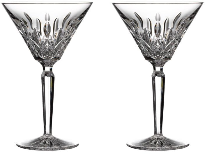 Waterford Lismore Giftward 2-Piece Martini Glass Set