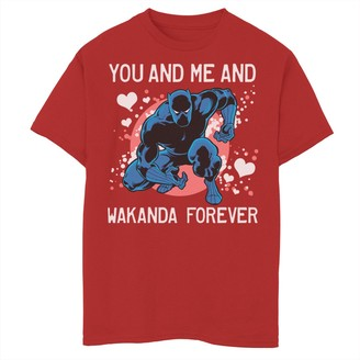 Marvel Boys 8-20 Black Panther You And Me Valentine Tee