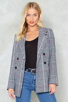Nasty Gal nastygal Back in Business Check Blazer