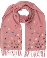 Paul Smith Wool Embroidered Scarf