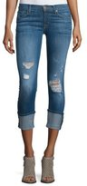 Hudson Muse Folded-Cuff Cropped Jeans, Hustle