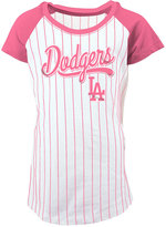 5th & Ocean Girls' Los Angeles Dodgers Pinstripe T-Shirt